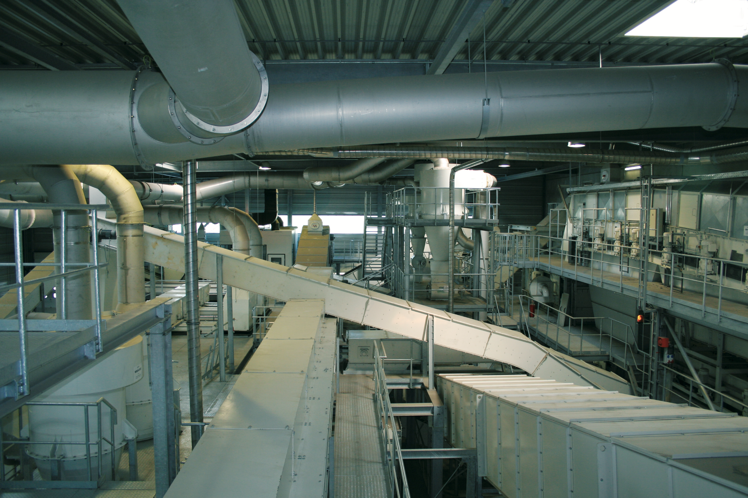 Interior view of the plant