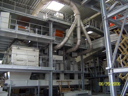 Processing technology in the machine hall